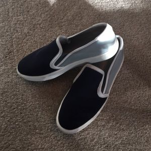 Vince mesh/neoprene slip on sneakers